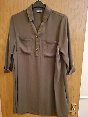 Ladies Long Tunic Top Size 20 Kaki Matalan Lovely Condition BNWOT  • 4.99£