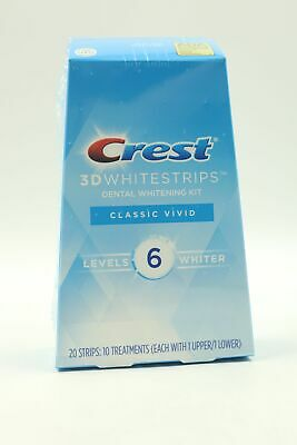 AU18.96 • Buy Crest 3D Whitening Kit Strips Classic Vivid 10 Treatments 6 Levels Whiter 11/22