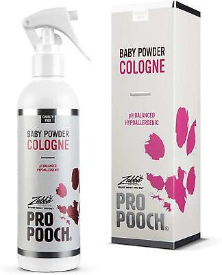 PRO POOCH DOG BABY POWDER Scented COLOGNE Spray Perfume For Dogs 250 Ml • 12.42£
