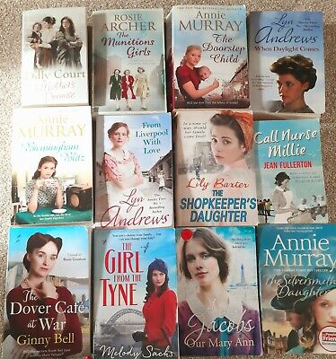 Ladies HISTORICAL FICTION Books Bundle 12 ANNIE MURRAY, Dover Cafe At War, DILLY • 1.20£