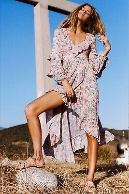 AU321.16 • Buy NEW Spell And & The Gypsy Collective Sayulita Frill Gown Maxi Dress Size Small