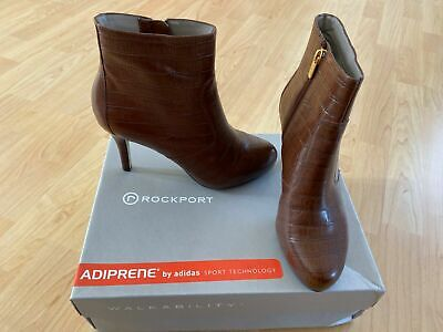 Rockport Women's Seven To 7 Ankle Boots With Adiprene UK 5 British Tan Mock Croc • 34.99£
