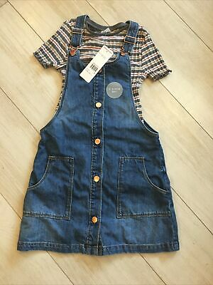 Girls Dungarees Dress And Top BNWT Age 9-10 F&F • 4.20£