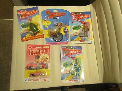 Thunderbirds And Lady Penelope Car Boxed 5 Characters Blister Pack Carded • 25£