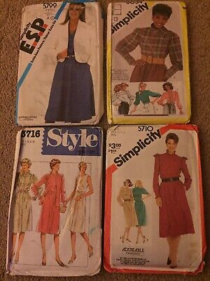 4 Ladies Sewing/ Dressmaking Patterns • 3.99£