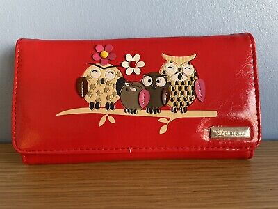Ladies Red Owl Family Purse / Wallet  BNWT • 6£