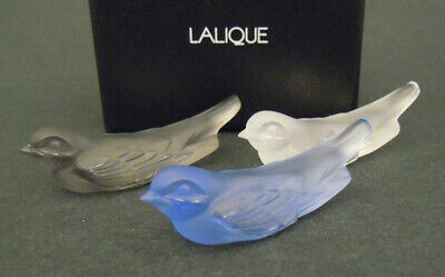 Lalique Pretty Blue Swallow Signed And Boxed With Paperwork • 85£