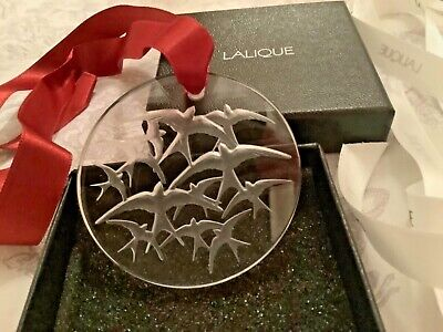 Lalique Stylish Large Swallows Pendant Signed And Boxed With Paperwork  • 95£