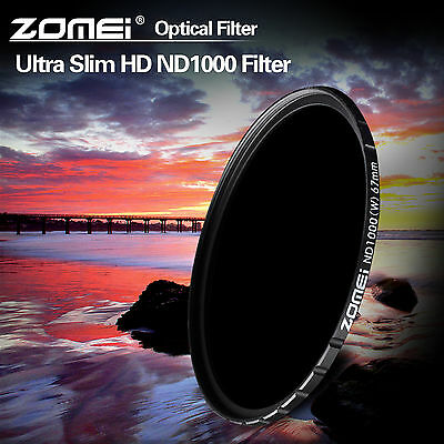 AU44.99 • Buy ZOMEI 67mm HD ND1000 MC Optical Glass 10 Neutral Density Filter For DSLR Camera