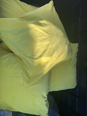 6 X Yellow Cushions With Cushion Pads Included, Great For Outdoors • 30£