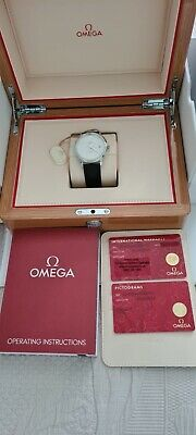 Omega De Ville Men's Black Leather Strap Watch • 2,500£