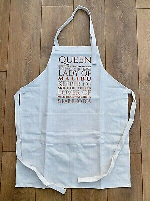 Apron Queen Lady Keeper Lover With Personalisation Full Length Linen Apron • 7.50£