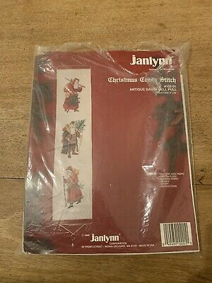 Janlynn Cross Stitch Kit - Antique Santa Bell Pull INCLUDES BELL PULL ENDS • 15£