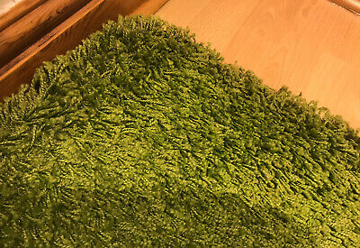 Ikea Hampen Green Shaggy Large Rug 133cm X 195cm (4ft 4in X 6ft 5in) • 17£