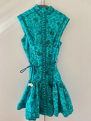 AU600 • Buy Zimmerman Sz 0 Lulu Panelled Flip Mini Dress