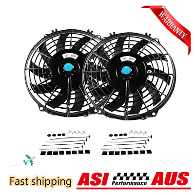 AU73 • Buy 2*9 Inch 12V Push Pull 9  Radiator Intercooler Cooling Thermo Fan+Mounting Pull+