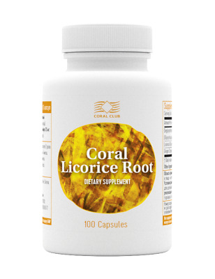 2 X Coral Licorice Root 100 Capsules Coral Club • 32£