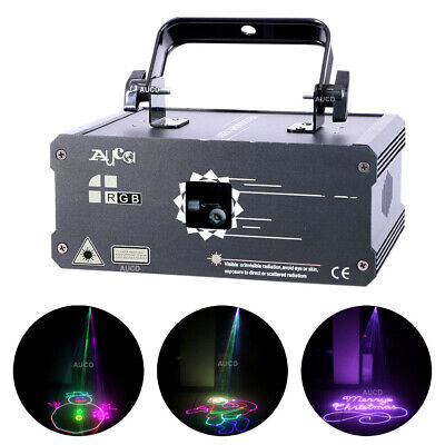 AU220.83 • Buy 1W RGB Animation Effec Laser Projector Lights DMX DJ Party Club Stage Light