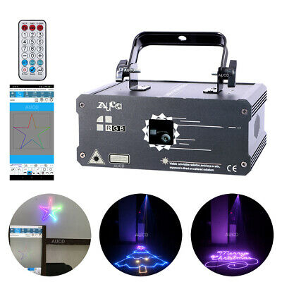 AU307.67 • Buy 1W APP Program Animation Laser Projector Remote DMX Party DJ Stage Effects Light