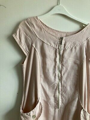 AU3.97 • Buy Pale Pink Linen Tunic Dress Lagenlook Size 12/Medium