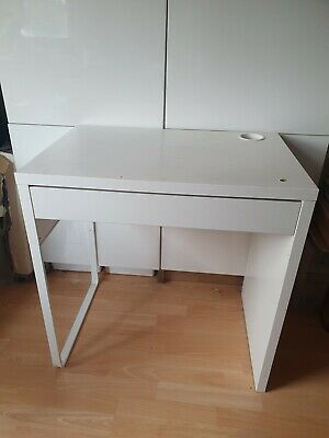 IKEA White Micke Desk With Drawer • 29£