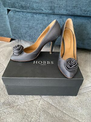 Hobbs Womens Pewter Grey Rose Stilleto Court Shoes Size 4.5 • 19.99£