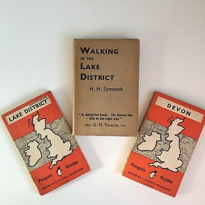 Penguin Guide Books To Devon &Lake District Walking Guide To The Lake District • 1.30£