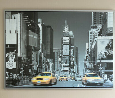 IKEA New York Times Square Silver Framed Large Picture Photo Print 100 X 140 Cm • 12£