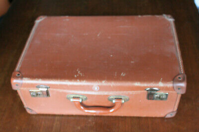 Vintage 1940's Small Brown WW2 Evacuee Suitcase By Crown 18  X 12  Utility Type • 19.99£