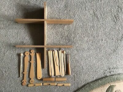Pre-owned Joblot Various Bobbin Lace Accessories (inc. Table Lace Pillow Stand) • 2.99£