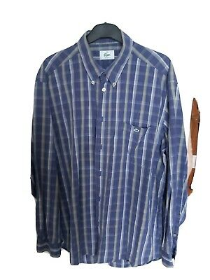 Super Cool 100% Genuine Mens Lacoste Check Shirt In Size 43 Large • 5.70£