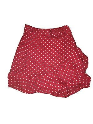 Red And White Polka Dot Ruffle Skirt - Size 6 New!  Y2K 90's • 2.25£