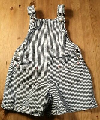 F&F Blue Stripped Dungaree Shorts 3-4 Years • 3.50£