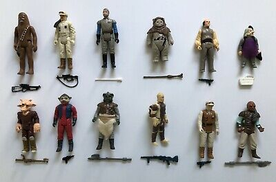 $ CDN376.17 • Buy 12 Vintage Star Wars Action Figures Complete Original Weapons And Accessories