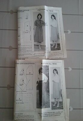 2 Vintage Ladies Dressmaking Patterns • 2.50£