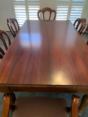 AU249 • Buy Mahogany Dining Table Set With 6 Chairs