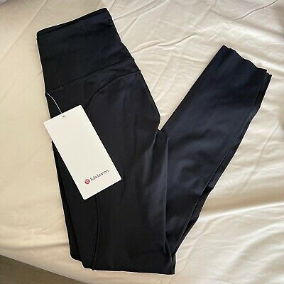 AU107.49 • Buy Lululemon Fast Free High Rise Tight Crop 25  Or 31  Inseam BLACK Nulux Size 0