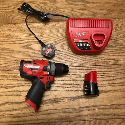 Milwaukee M12FPD-0 12v Combi Drill Fuel Cordless Body Only • 200£