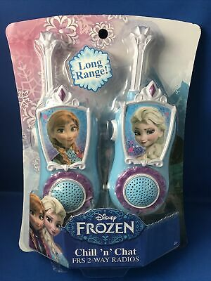 $ CDN31.58 • Buy Disney Frozen Chill N Chat FRS 2 Way Radio Elsa Anna Long Range WalkieTalkie B2