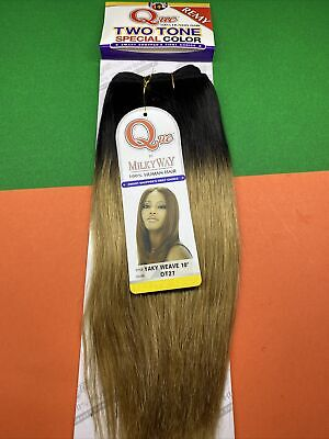 $23 • Buy Milkyway Que_100% Human Hair Two_tone_special_collor_yaky Weave Remy_10 _#ot27
