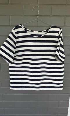 AU44.99 • Buy Boxy Gorman Navy/white Top Size 14 As New