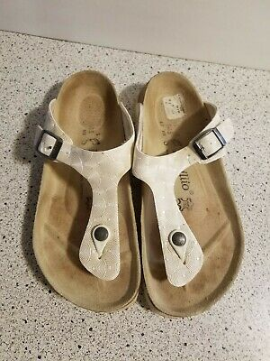 Birkenstock Papillio Hard Footbed Sandal Thong Germany Perl Pearl L7 M5 Gizeh • 21.22£