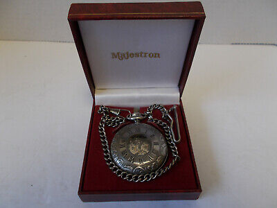 $49.95 • Buy Vintage Majestron Pocket Watch With Chain And Fob NEW In Box