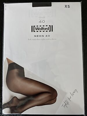 Wolford Tights Neon 40 XS Extra Small Mocca • 19.10£