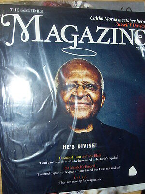 NEW Times Magazine.DESMOND TUTU.In Sealed Bag.UK Celebrity Magazine 20.12.14 • 1.10£