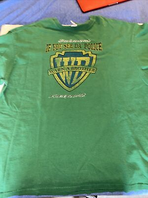 Vintage Bahamas If You See Da Police Warn A Brother Freeport T Shirt Green 2xl • 15.81£