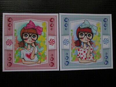 £1.25 • Buy NEW ==  2 X  BIRTHDAY GIRL Card Toppers & Sentiments--SET1
