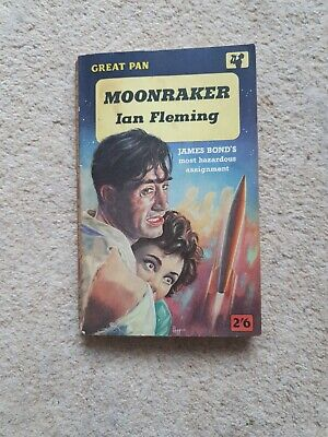 Moonraker By Ian Fleming,James Bond 007 Great Pan Paperback Book 1961 Vintage  • 3£