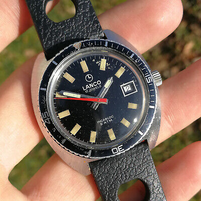 Vintage LANCO Skindiver Watch - 1960s - 37mm - Cal. Tissot 782-1 - Swiss Made • 106.57£