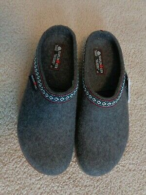 Haflinger Pure Wool Clogs/Slippers, Classic Grizzly Men's Sz 45-Euro/11-US,  New • 85.12£